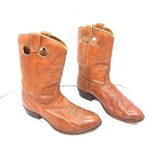Boulet Leather Cowboy Boots 11B
